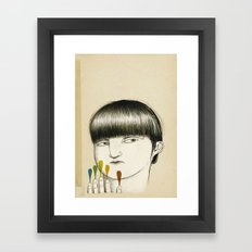 they come in five Framed Art Print