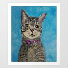 Pimp the Cat Art Print