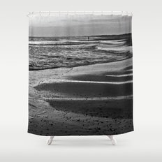 DARK DANISH AMBIENT BEACH Shower Curtain