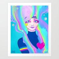 Turbo Girl Art Print