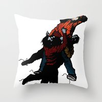 Hold On V2 Throw Pillow