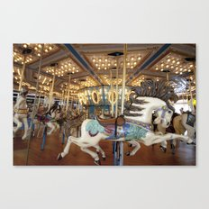 Carousel in Seaside Canvas Print