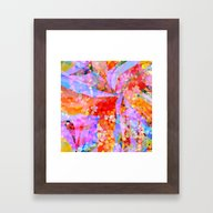 Color Storm Framed Art Print