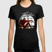 The Flash Dance Womens Fitted Tee Tri-Black SMALL