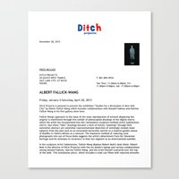 Ditch Projects Press Release (Page 1) Canvas Print