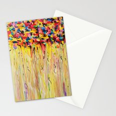 OPPOSITES LOVE Raining Sunshine - Bold Bright Sunny Colorful Rain Storm Abstract Acrylic Painting Stationery Cards