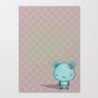 kawaii Bear Canvas Print