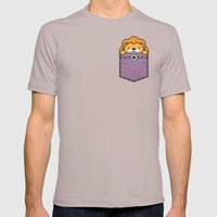 Pocket Lion Mens Fitted Tee Cinder SMALL