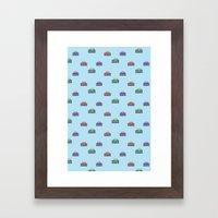 The button Framed Art Print