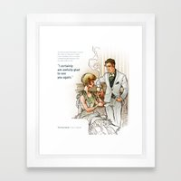 The Great Gatsby_see you again Framed Art Print