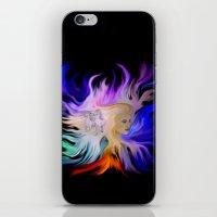Woman and Horse - Fantasy Rainbow Art iPhone & iPod Skin