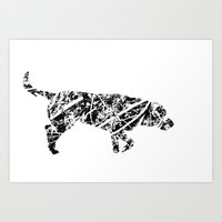 Labrador Scribble Art Print