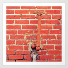 Brick by brick , another pipe dream unfolds Art Print