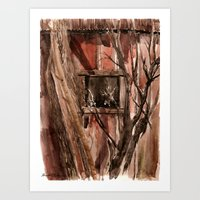 Barn Window Art Print