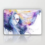 Laptop & iPad Skin featuring Big Bang In Watercolor by Agnes-cecile