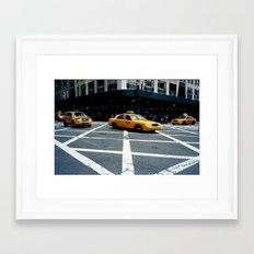 New York City Taxi Framed Art Print