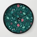 Bright flowers Wall Clock