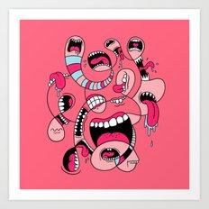 Big Mouths Art Print