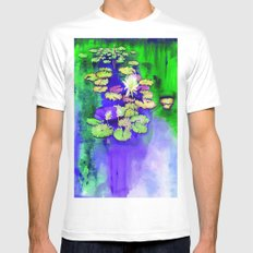 Secret Pond Mens Fitted Tee White SMALL