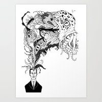 Mr Lovercraft's Monsters Art Print