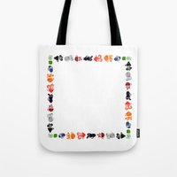 Teacups Border Tote Bag
