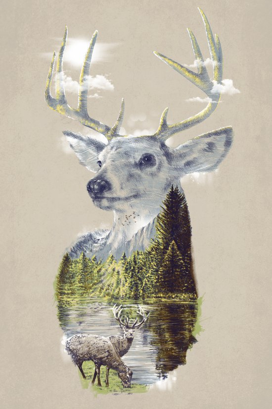 Mo'deer' Nature Art Print