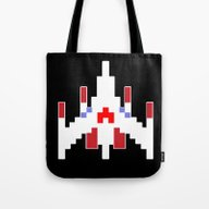 Galaga Fighter Tote Bag
