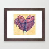 The Heart Framed Art Print