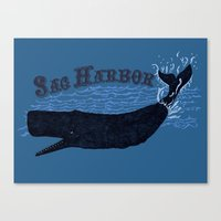 Sag Harbor Whale Canvas Print