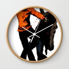 Zombie Fist Fight! Wall Clock