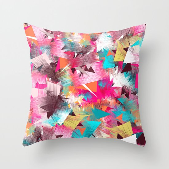 Colorful Place Throw Pillow
