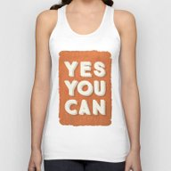 YES YOU CAN Unisex Tank Top