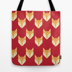 Mr. Fox Pattern Tote Bag