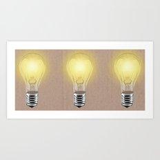 Bulbs Art Print