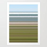 Sky Water Beach Grass Art Print