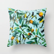 Fruit and Birds Pattern Throw Pillow