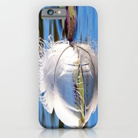 Swan Feather On Lake iPhone 6 Slim Case