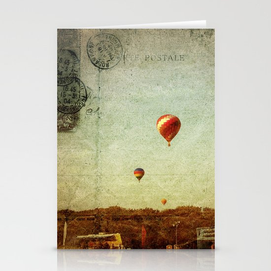 Textured Balloons Stationery Card