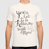 Right Meow Mens Fitted Tee Natural SMALL