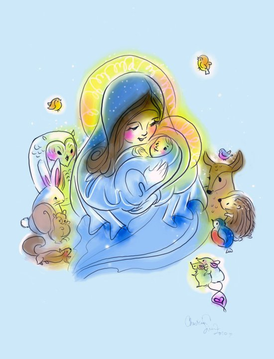 Lovely Nativity Art Print