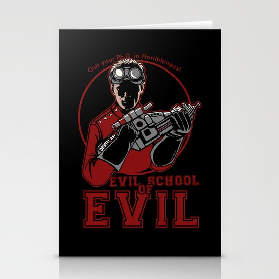 Dr. Horrible's Evil School of Evil Stationery Card