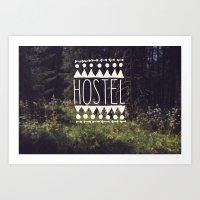 hostel Art Print