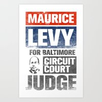 Maury Levy for Judge Art Print