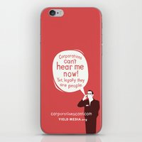 Corporations Can't Hear Me Now iPhone & iPod Skin