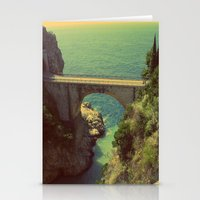 Bridge In Amalfi Coast, … Stationery Cards