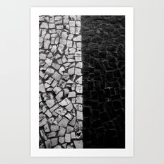 Black And White On The S… Art Print