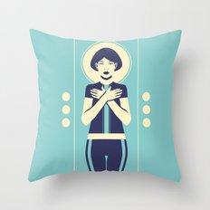 Evangeline Blue Throw Pillow