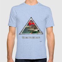 switzson Mens Fitted Tee Tri-Blue SMALL