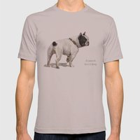 French Bulldog A050 Mens Fitted Tee Cinder SMALL