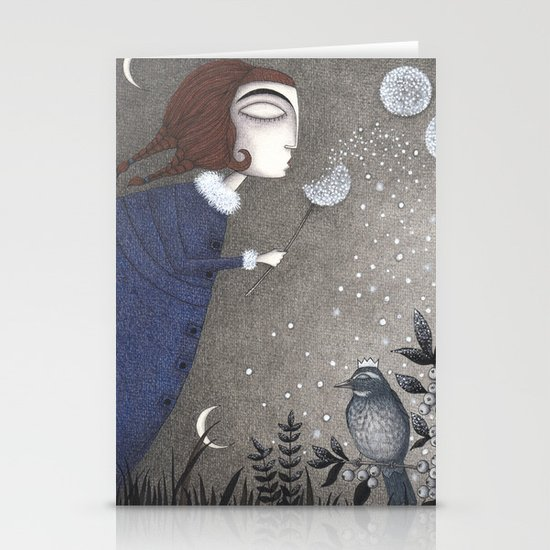 Winter Twilight Stationery Card